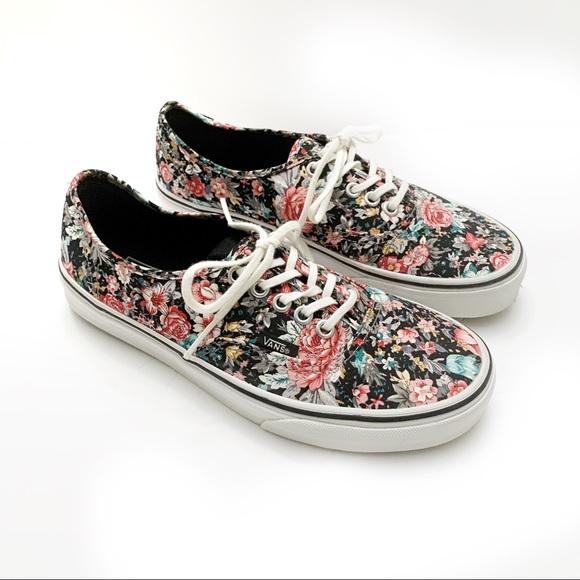 Vans Shoes | Multi Floral Canvas | Poshmark